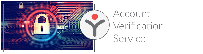 Image of secure payment gateway with the text: Account Verification Service